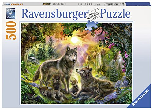 Ravensburger Wolf Family in The Sun Jigsaw Puzzle (500 Piece)