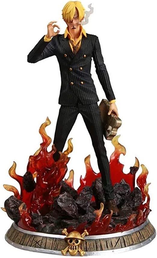 Amazon Com Wflna One Piece Figure Vinsmoke Sanji Fire Figure Anime Figure Action Figure Home Kitchen