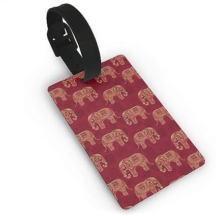 Amazon Com Oiu4byf Henna Elephants Luggage Tags Business Card