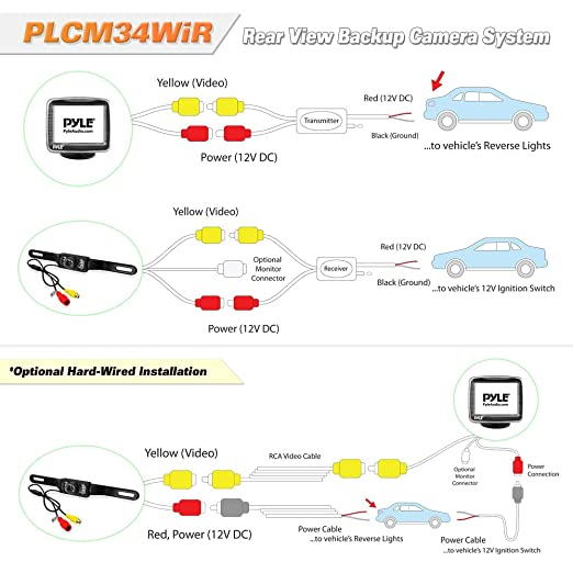 Amazon Pyle Wireless Backup Car Camera Rearview Monitor System Rhamazon: Pyle Rear View Camera Wiring Diagram At Gmaili.net