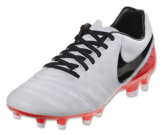 Nike - Tiempo Mystic V FG Soccer Shoes Women's Size 7.5 Red/White