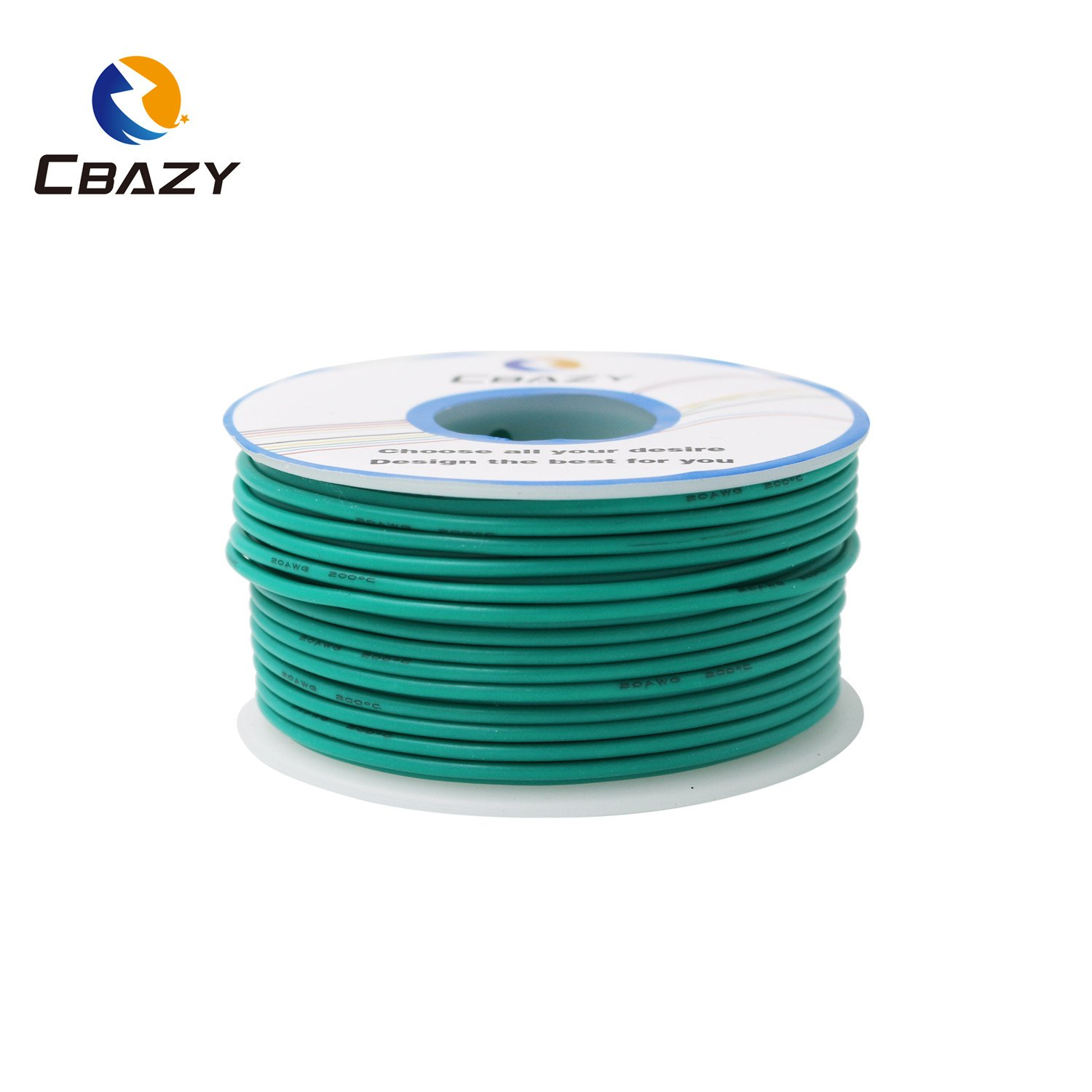 CBAZY™ Hook up Wire (Stranded Wire) 22 Gauge Flexible Silicone Wire 22AWG 25M (82 Feet) Electrical Wire Green by CBAZY (Image #2)