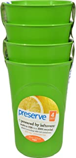product image for 2Pack! Preserve Reusable Cups Apple Green - 16 oz Each / Pack of 4