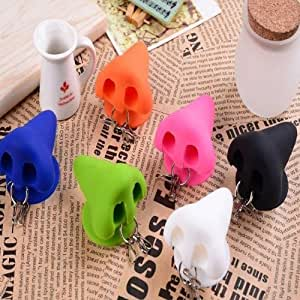 Nose Shape Design Soft Silicone Stand For iPhone Smartphone Device