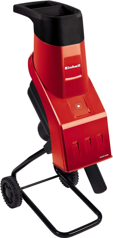 Black Einhell GH-KS 2440 2000 W Electric Rapid Garden Shredder Refurbished Red 40 mm