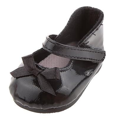 1 Par Zapatos Zapatillas Negro para Muñecas American Girl Moda: Juguetes y juegos