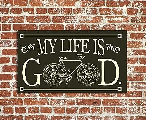 JeremyHar75 Placa de Madera para Colgar Regalos de Bicicleta ...