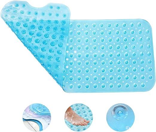 39x16 In Extra Long Bathtub Mats Tub Non Slip Mildew Resistant  Machine Washable