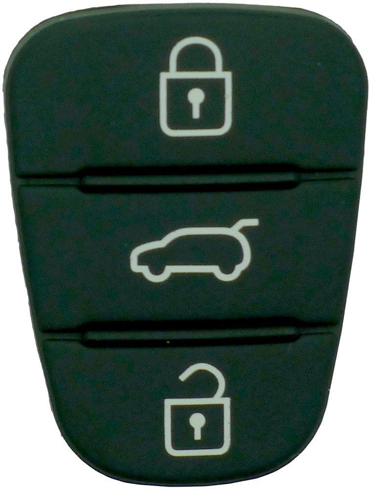 Chequers Motorstore New Hyundai I20 I30 3 Button Key Remote Rubber Pad