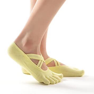 Maybesky Calcetines de Yoga Cruzados con Calcetines ...