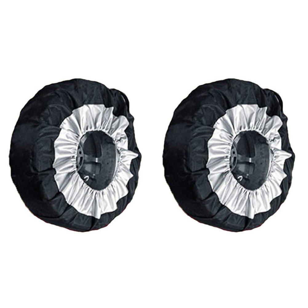 Symboat protecció n automá tico de Protector de neumá tico de Rueda de Bolsa de Almacenamiento de Protectora de neumá ticos de Coche 65 cm Durable Oxford, 1#
