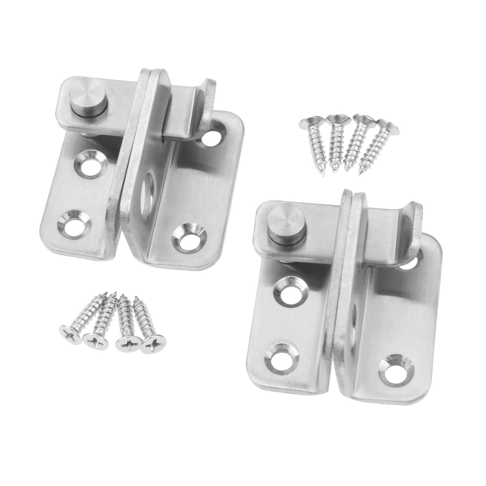2Pcs Stainless Steel Slide Bolt Latch Gate Latches safety Door Lock-Left
