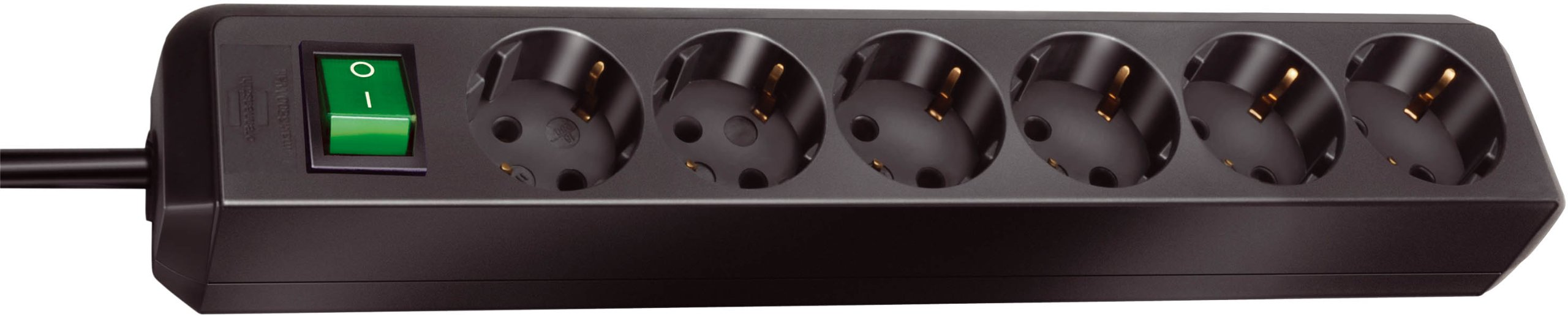 Brennenstuhl 149908 - Regleta con 6 tomas + interruptor, color negro product image