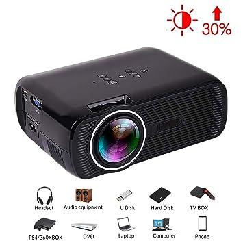 Zichen Mini proyector, proyector portátil de 1800 lúmenes, con ...