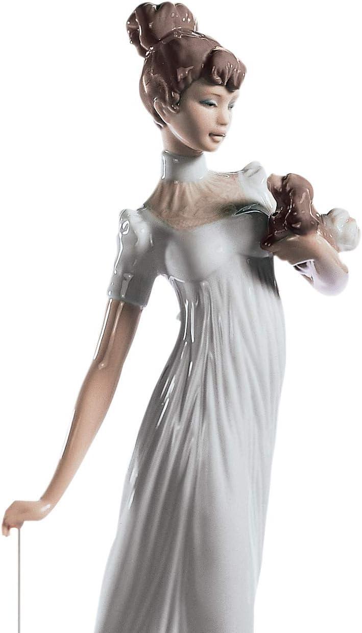 LLADR Traveling Companions Woman Figurine. Porcelain Woman Figure.