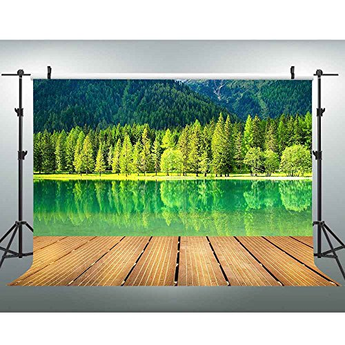 VVM 7x5ft Mountains and River Backdrop Water Scence Natural Scenery Photo Booth Backdrop Studio Props GYVV182