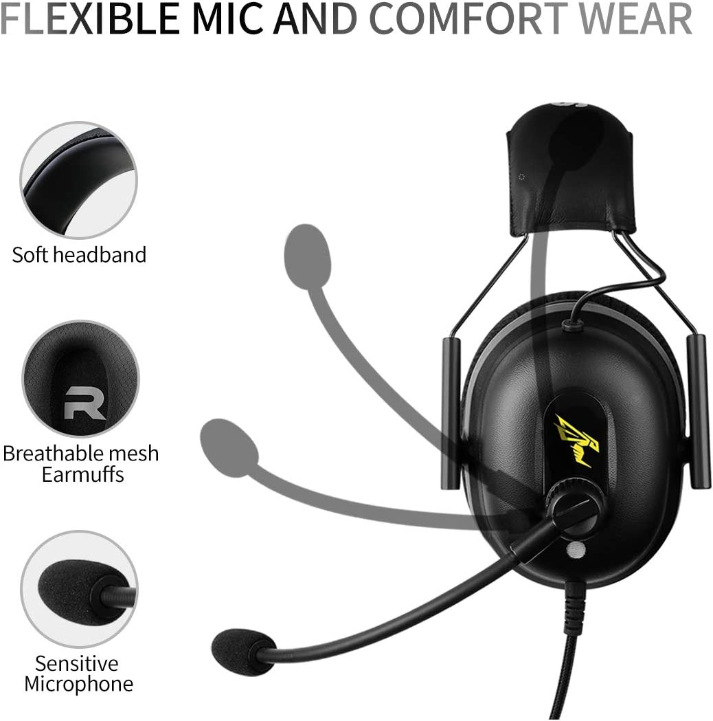 Phone SOMIC G936N Gaming Headset for Xbox NO Drive 50mm Surround Sound ENC Noise Reduction Ergonomics Design PUBG//LOL//Video Mode Headphone with Mic,3.5MM and USB Plug PS4 Laptop: 7.1 Virtual
