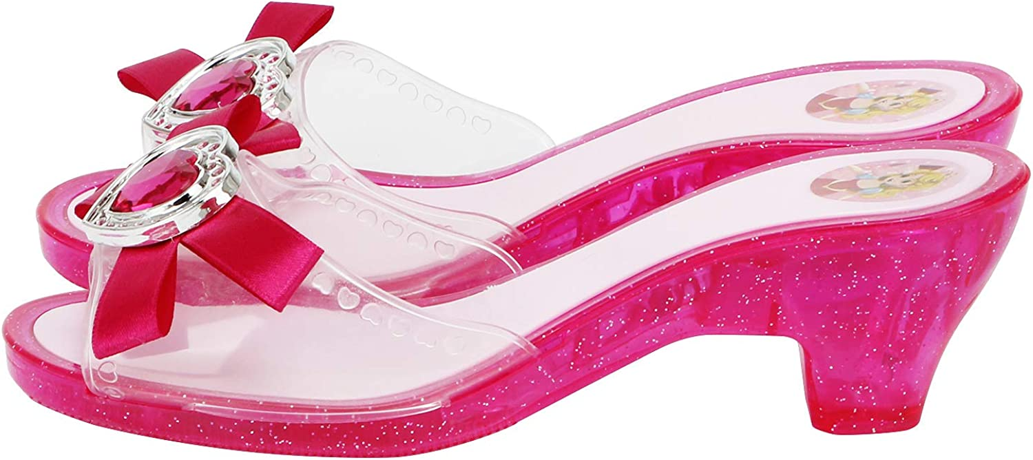 Fedio Girls Princess Dress up Shoes 4 Pairs Role Play Collection Play Shoes Set for Little Girls Age 3-6 Years