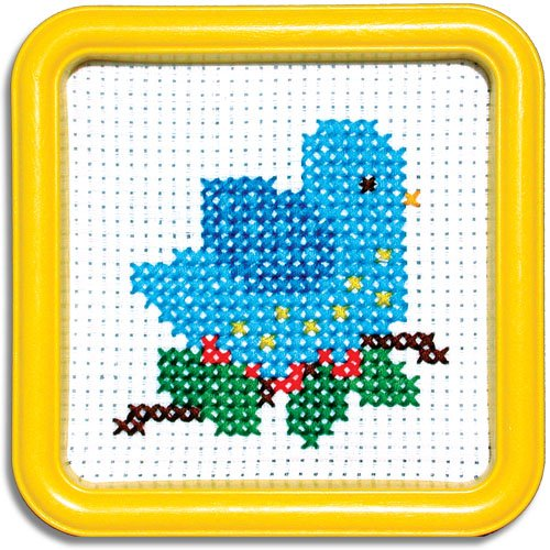 Easystreet Little Folks Blue Bird Counted Cross-Stitch Kit