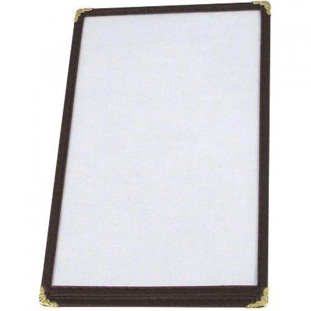 Black 10 Pack! Winco Single Menu Cover 8.5-Inch x 5.5-Inch
