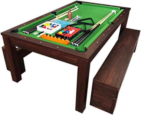 Simba Srl Mesa de Billar Juegos de Billar 7 ft Carambola y Plan de Cobertura y Bancos Rich: Amazon.es: Deportes y aire libre