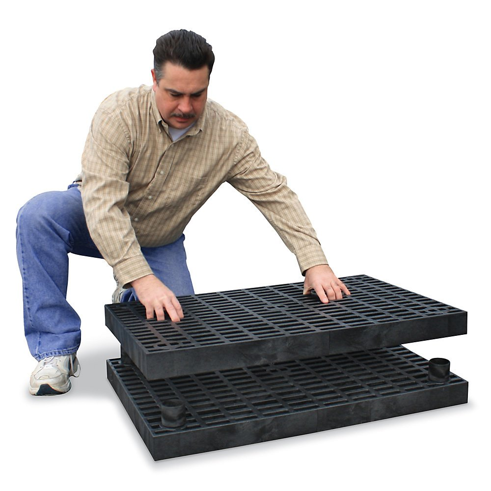 Structural Plastics Add-A-Level Modular Work Platform - 66X36'' - Base Platform