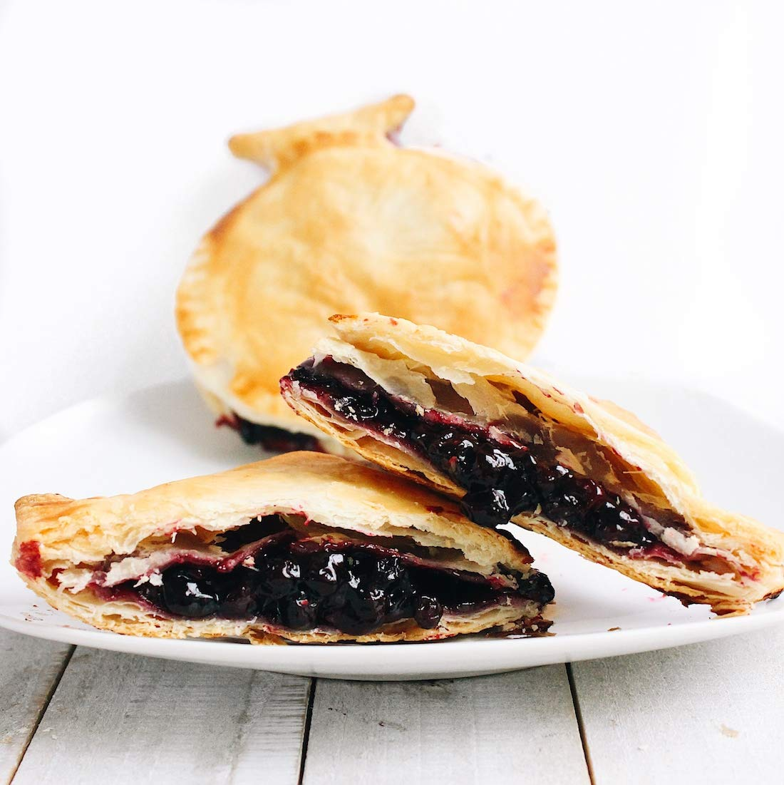 Mamie's 12 Pack Melt-in-Your-Mouth Single Serving Blueberry Pies, Individually Packaged 4.5oz Pocket Pies, Preservative Free, Shipped Frozen and Ready to Bake, Made in USA. by Mamie's Pies (Image #2)