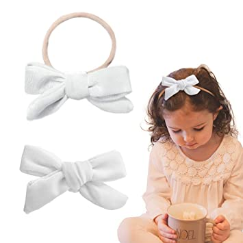 Baby girls velvet bow headband infant headbands kids hair accessoriesHI