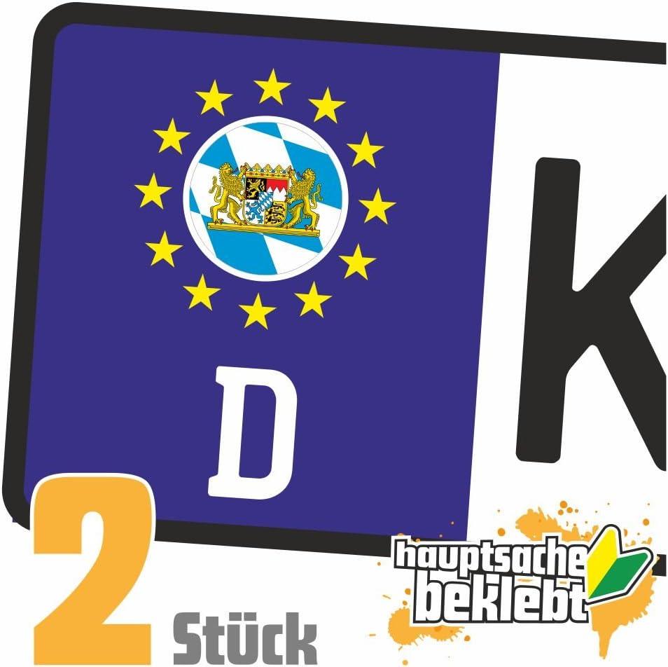 Bayern Kennzeichen Aufkleber Sticker Nummernschild Land Country Nation Auto