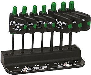 Bondhus 35045 Set of 7 StarPlus Flagdriver Tools, sizes TP6-TP20