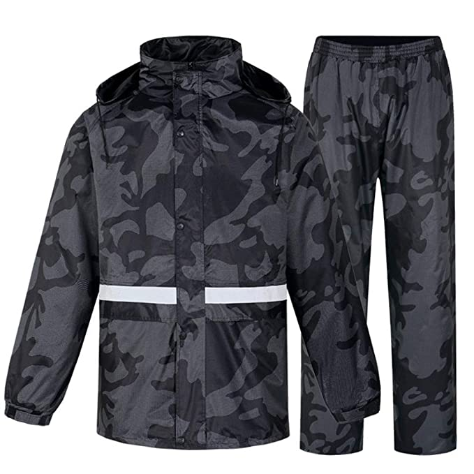 HONG-Rain Pantalones Impermeables de Camuflaje para Lluvia ...