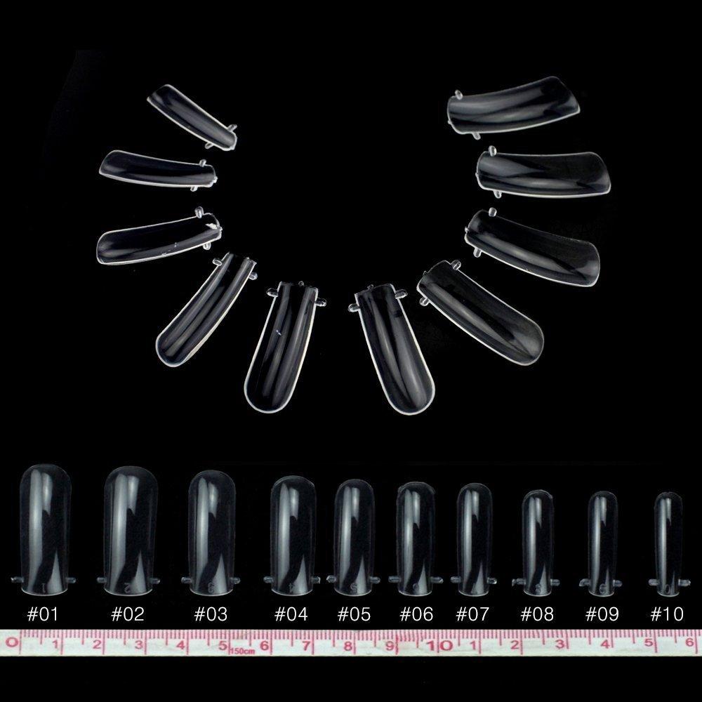 Sistema de forma de uña doble transparente TP, de gel acrílico UV, para arte y decoración DIY, transparente (Transparente) - TP-TI09: Amazon.es: Equipaje