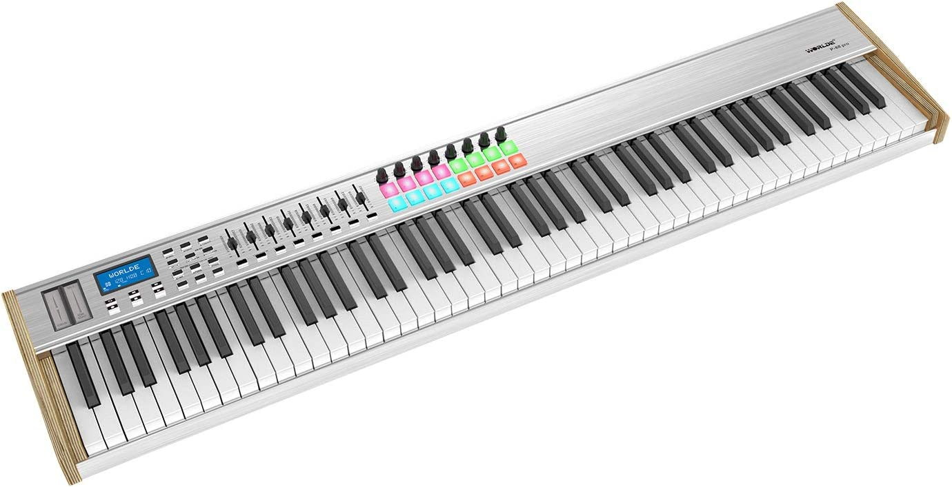 Muslady WORLDE MIDI P-88 Pro 88-Key USB MIDI Keyboard Controller LCD  Display with 88 Semi-weighted Keys 16 RGB Backlit Trigger Pads 8 Assignable  Sliders for Music Studio Stage Live Performance: Amazon.ca: Musical  Instruments, Stage & Studio