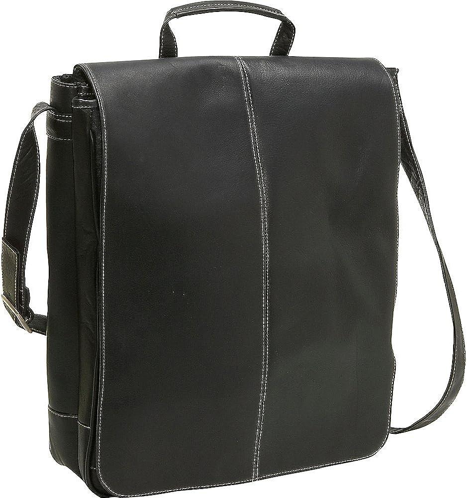 Le Donne Leather 17 Inch Computer Messenger Black
