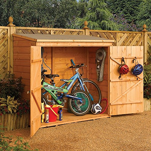 Rowlinson Wall-Store Outdoor Wood Storage Shed by Rowlinson