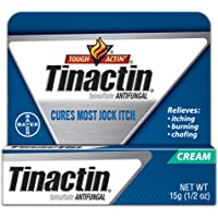 Tinactin Jock Itch Antifungal Cream for Body Fungus Treatment, Tolnaftate 1%, Used Daily Clinically Effective Treatment…