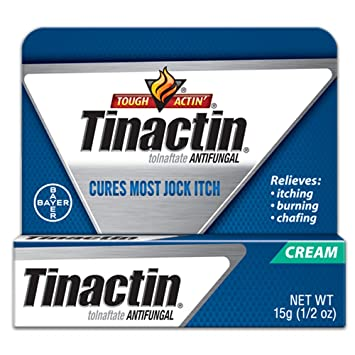 Tinactin Jock Itch Antifungal Cream for Body Fungus Treatment, Tolnaftate  1%, Used Daily Clinically