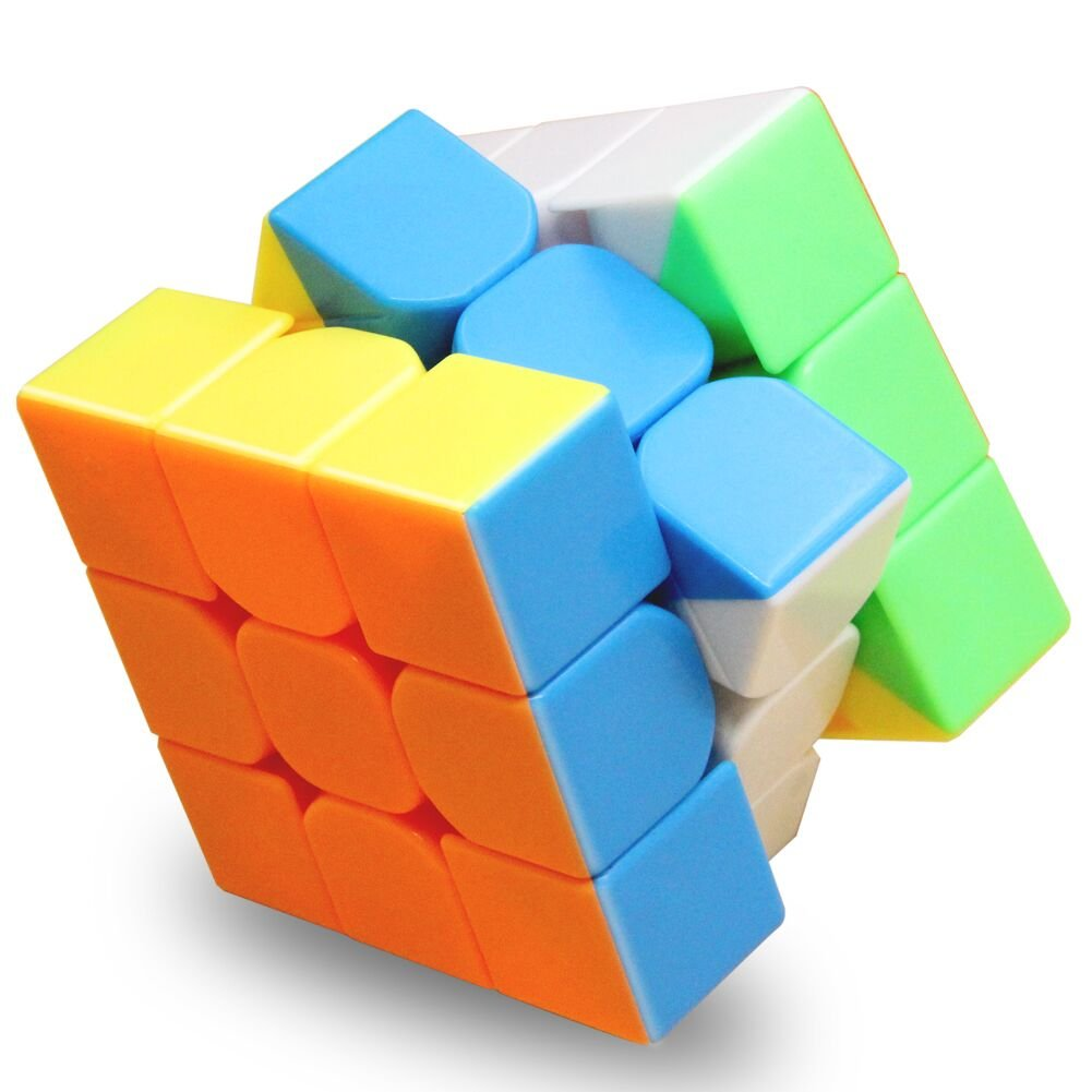 Wellead Magic Cube 3x3x3 Stickerless Puzzle Bundle for Speed Cube Beginner and Intermediates as Gifts