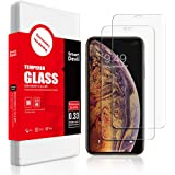 SMARTDEVIL 2 Pack Screen Protector Foils for Apple iphone Xs Max/iphone 11 pro Max Protective Tempered Glass Film for 6.5 Inch Screen with Installation Tool High Definition 9H Hardness Anti-Scratch