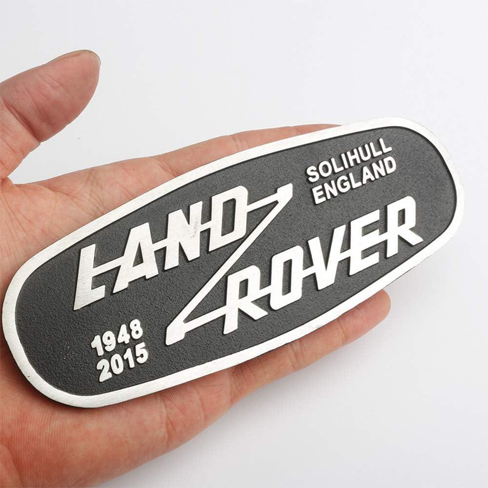 XCBW Logo Emblem f/ür Frontgrill Metallbuchstaben Abzeichen Aufkleber f/ür Land Rover Defender 2015 Fahrzeugmodifikation
