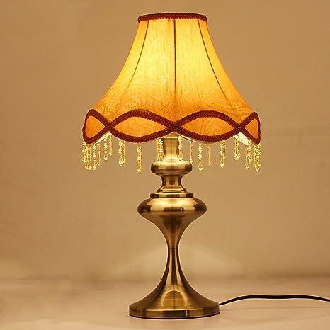 TOYM UK Americana rústica lámpara de Mesa de Bronce clásico ...