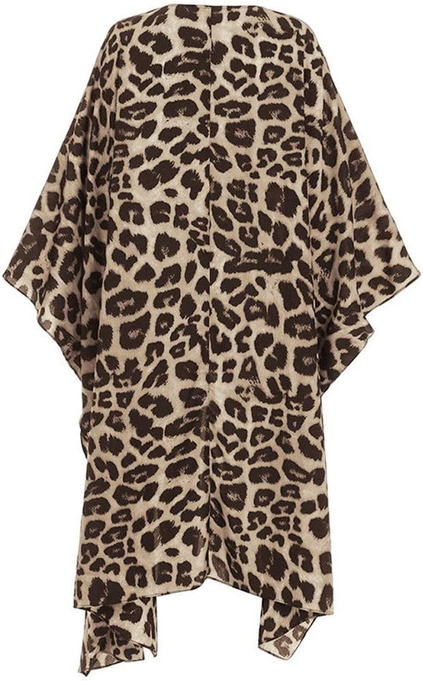 Lataw Fashion Coat for Womens Jacket Stylish Long Sleeves Leopard Print Cardigan Smock Blouse Easy Tops Outerwear Overcoats
