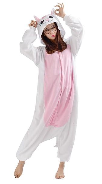 Pijamas Animales Gato Mujer Invierno Cosplay Traje Disfraz Adulto