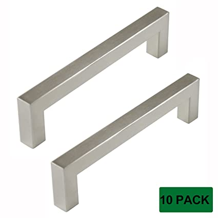 Delicieux Probrico Square Kitchen Cupboard Handles And Pulls 5 Inch Holes Centers  Stainless Steel Cabinet Drawer Handles
