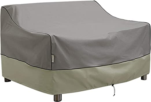 Amazon Com Kylinlucky Outdoor Furniture Covers Waterproof 2 Seater Patio Sofa Covers Fits Up To 52w X 32d X 34h Inches Home Kitchen