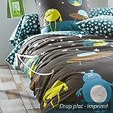 Drap plat 180x290 cm 100% coton - MONSTERS