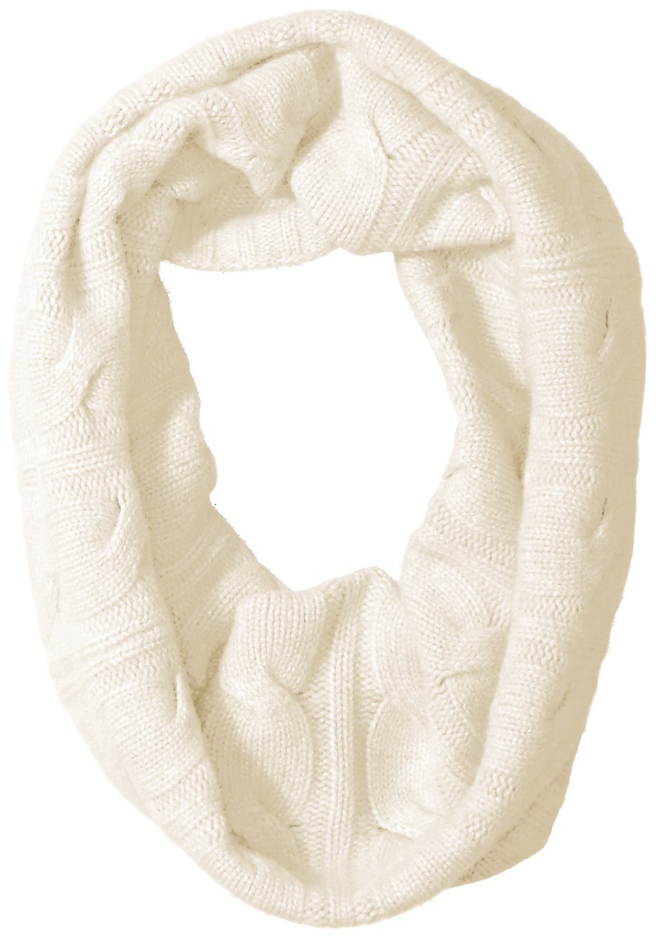 Sofia Cashmere Women's 100 Percent Cashmere Cable Snood, Ivory, One