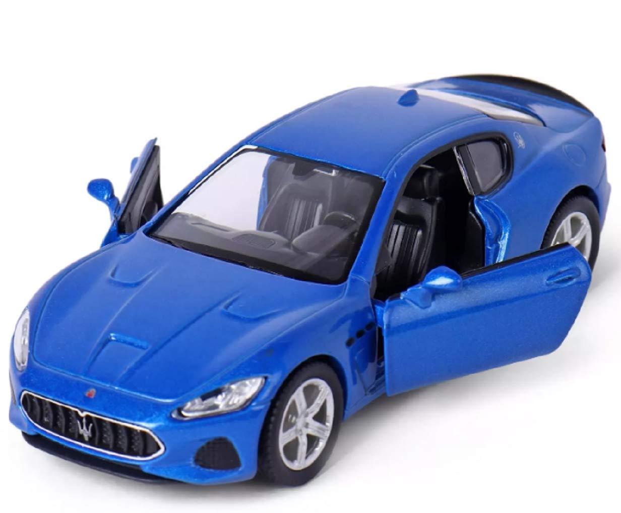 Bleu RMZ City Maserati Granturismo MC Mod/èle de Voiture /à l/´/échelle 1:36 /échelle moul/é sous Pression en m/étal de Haute qualit/é ouvrant Les Portes Pullback Go Action