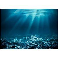 Blesiya Undersea Decorative Aquarium 3D Background Sticker Fish Tank Wall Decoration Painting PVC