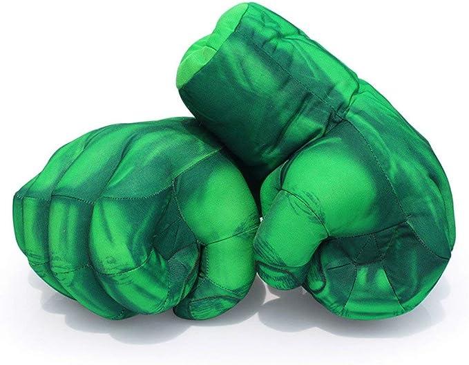 Gants Hulk Enfant Gants de Boxe Hulk Cadeau Enfants Cosplay Gants de Peluche Doux Main Super Héros Hulk Poing Jouet Hulk, Cadeau Jouet pour Garçons et Filles(1 Paire )